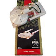 1991 Starship Enterprise Hallmark Ornament in Original Box Star Trek 25th Anniversary Christmas