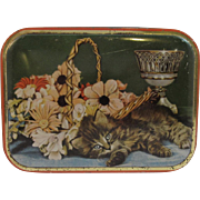 Vintage Kitty Cat English Sharp's Toffee Tin