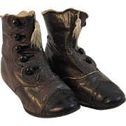 Victorian Button Up Baby Shoes Boots with Tassels