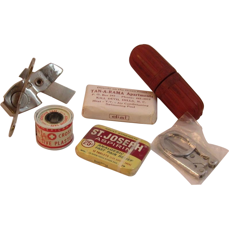 1960s First Aid Kit