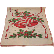 Vintage Christmas Table Runner - Holly & Bells