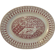Aesthetic Red Transferware Platter