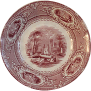 Challinor Corinthia Red Transferware Bowl