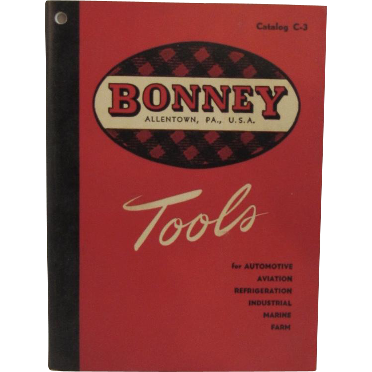 1950 Bonney Tools Catalog Allentown, Pennsylvania