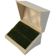 Vintage Velvet Lined Jewelry Presentation Box