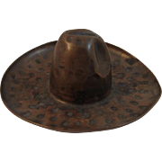 Old Hand Hammered Copper Cowboy Hat