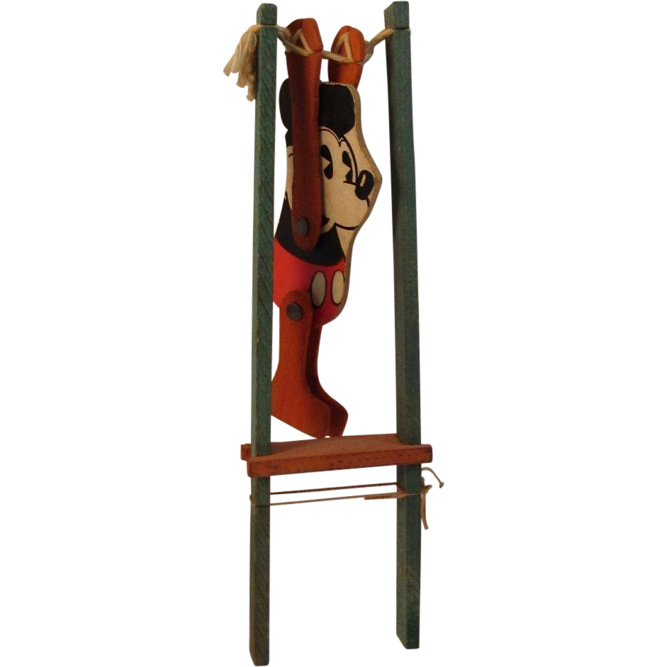 1930s Pie Eyed Mickey Mouse Acrobat Toy