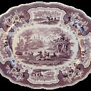 Adams Palestine Mulberry Transferware Transfer Platter