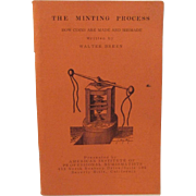 The Minting Process by Walter Breen 1970 How Coins Are Made and Mismade