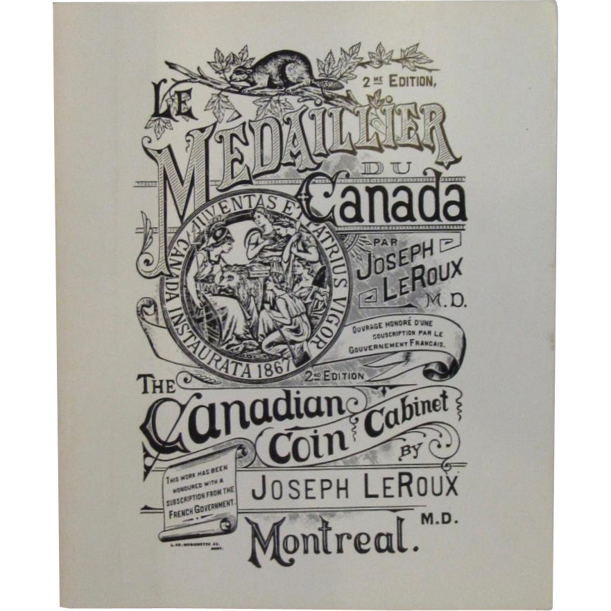 Medaillier Du Canada The Canadian Coin Cabinet Book by Joseph LeRoux 1983
