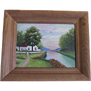 Pennsylvania Artist Lehman Oil Painting, 'The Cottage'