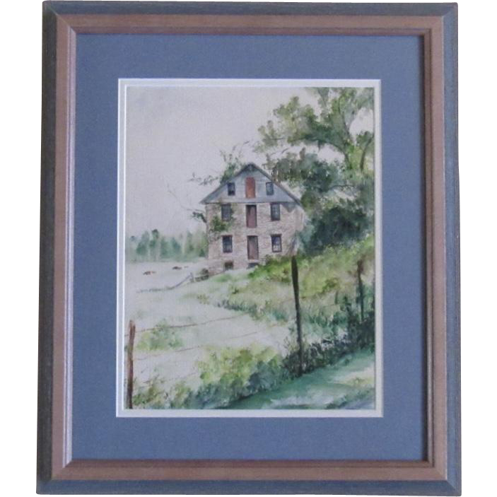 Original Watercolor by L. McCurdy circa 1978