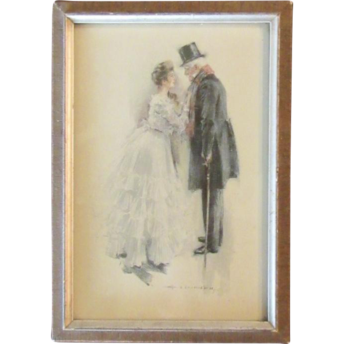 Howard Chandler Christy Art Print circa 1900's