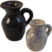 Dollhouse Miniatures 2 Pottery Jugs - Red Tag Sale Item