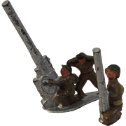 Pair of Barclay Soldiers with Anti-Aircraft Guns