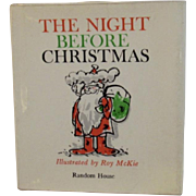 The Night Before Christmas Miniature Book Illustrated by Roy McKie 1963
