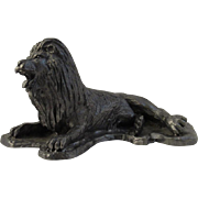 Pewter Lion Sculpture
