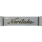 Vintage Noritake Dealer Sign Advertising Store Porcelain Shelf Marker