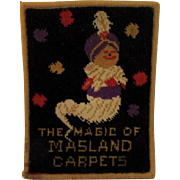 1930's Masland Carpets Advertising Genie Rug