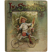 In Storyland Victorian Chromolithograph Illustrated Children's Book - Red Tag Sale Item