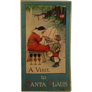 A Visit to Santa Claus Victorian Lithograph Illustrated Children's Book - Red Tag Sale Item