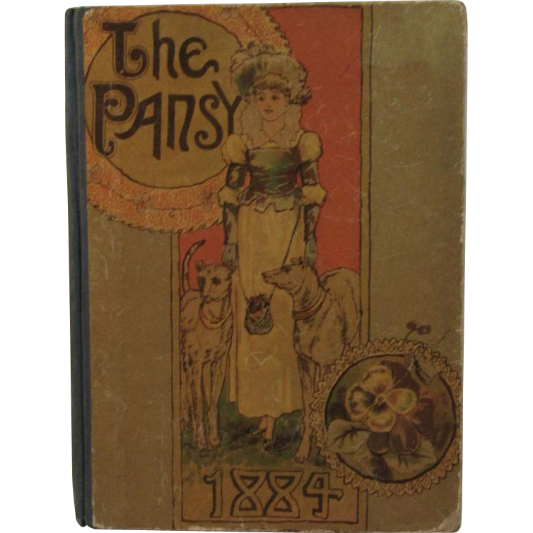 1884 The Pansy Stories of Child Life Victorian Children's Book Alden