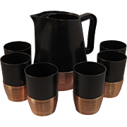 Burrite Copper Classics Beverage Set - Never Used - Great for a Vintage or Retro Kitchen