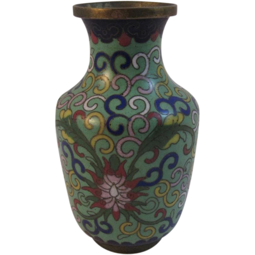 Early Chinese Cloisonné Vase