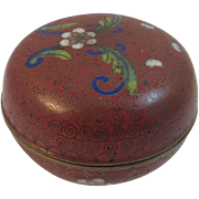 Early Cloisonné Covered Dish