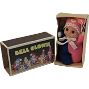 Vintage Bell Clown Miniature Baby Doll in Original Box