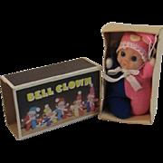 Vintage Bell Clown Miniature Baby Doll in Original Box