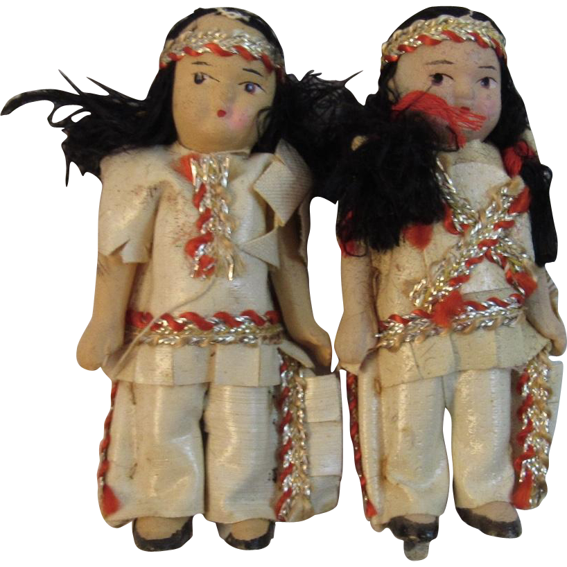 Miniature Indian Dolls Made in Japan