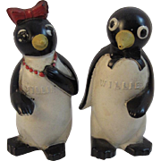Millie and Willie Penguin F&F Salt and Pepper Shakers