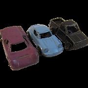 3 Die Cast Miniature Cars Tootsietoy
