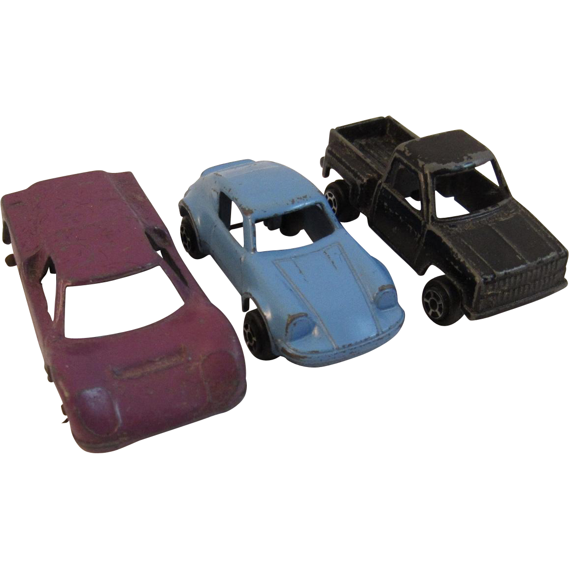 3 Die Cast Miniature Cars Tootsietoy