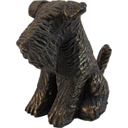 Vintage Cast Metal Airedale Dog Figurine