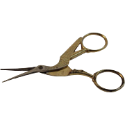 Vintage Crane Sewing Scissors Hoffritz Italy