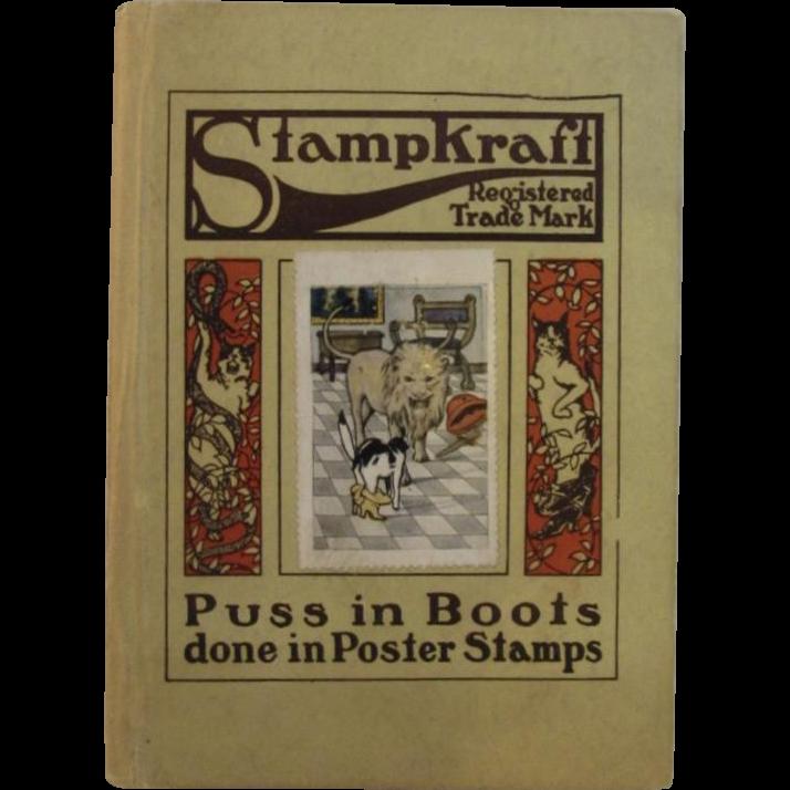 1919 Puss in Boots Stampkraft Children's Book