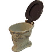 Tootsietoy Dollhouse Furniture Toilet Commode