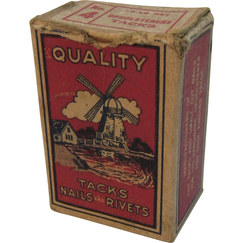 Holland MFG Co Box of Upholsterers Tacks No 4 Baltimore, MD