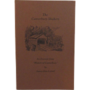 The Canterbury Shakers by Lyford 1974