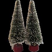 10 Inch Flocked Bottle Brush Trees