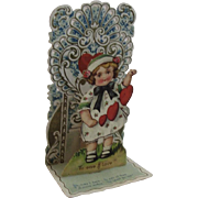 German Victorian Die Cut Miniature Valentine Pop Up