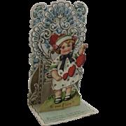 German Victorian Die Cut Miniature Valentine Pop Up