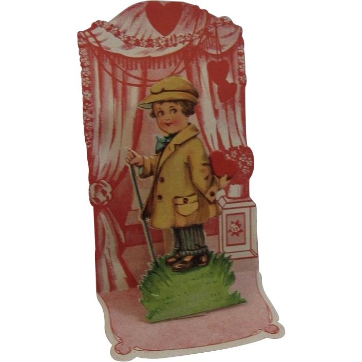 Victorian German Die Cut Miniature Pop Up Valentine