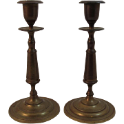 Vintage Gusums Bruk Brass Candlesticks Swedish Candle Sticks