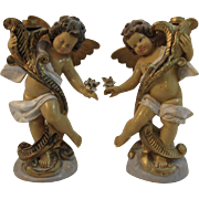 Italian Cherub CandleSticks Candle Holders