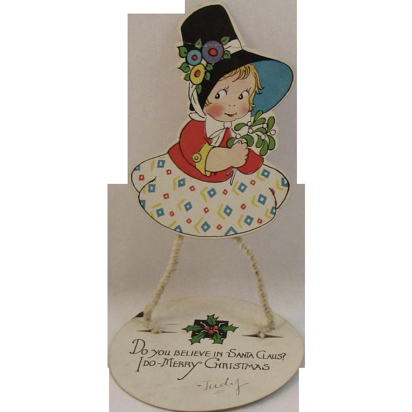 Vintage Standing Christmas Card