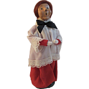 1983 Byers Choice Christmas Caroler with Bumpy Base Bottom