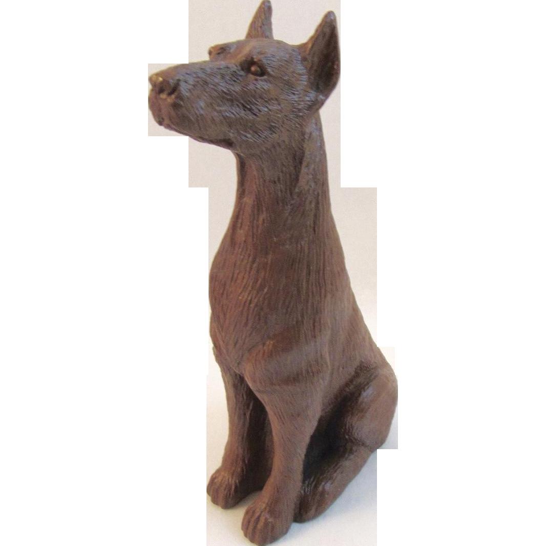 Red Mill Mfg Dog Figurine Doberman dated 1991
